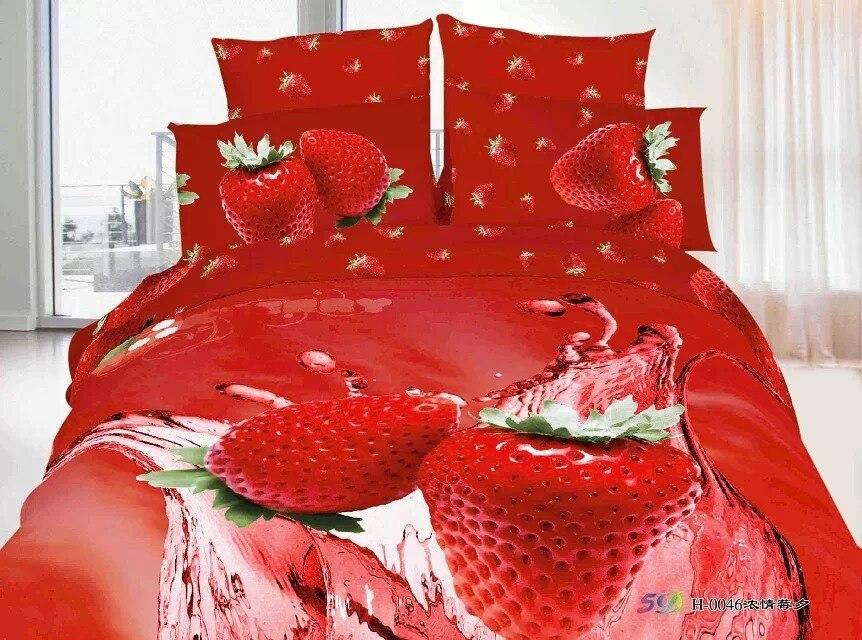 Home Textile/girls Strawberry Shortcake 3d Duvet Cover Set