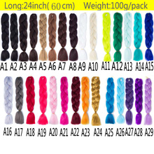 FALEMEI 24Inch 6Packs/Lot 100g/pack Ombre Two Tone Kanekalon Jumbo Braiding Hair synthetic afro Expression braid hair  Extension