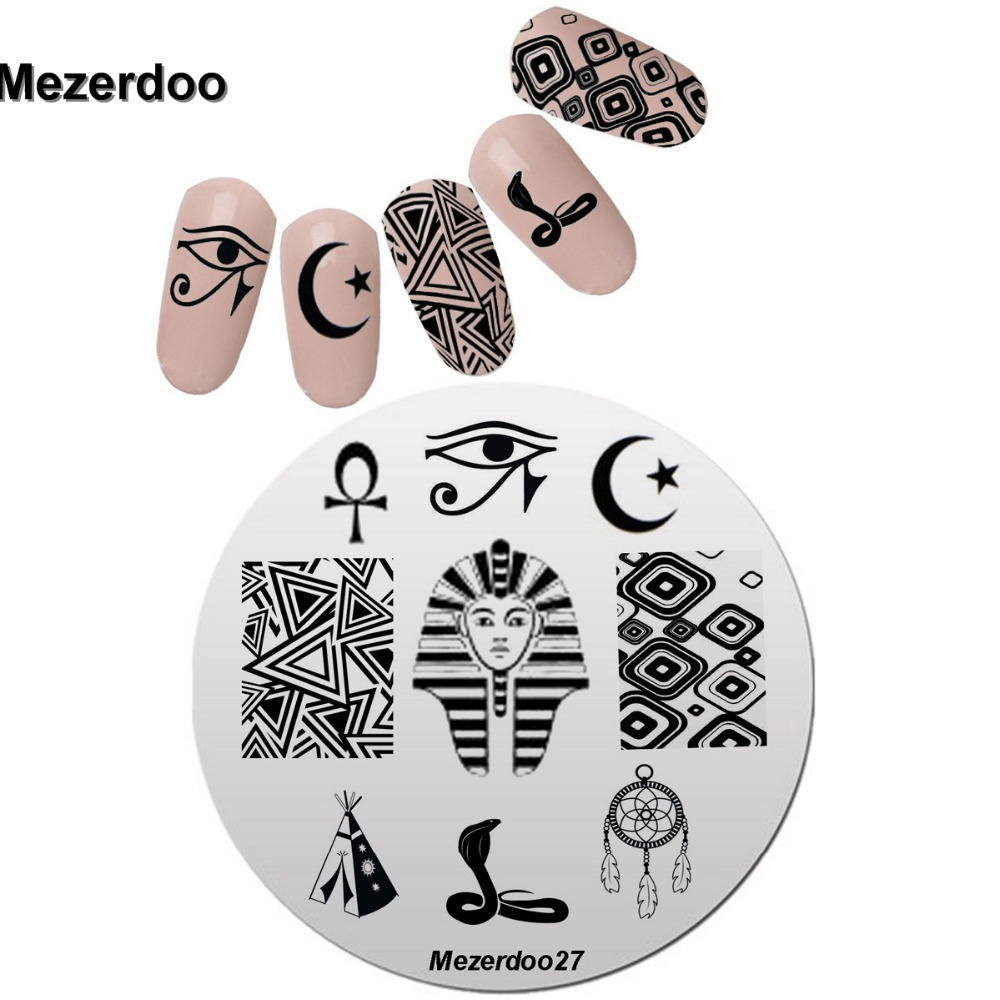 Nail Art Stamping Template Transfer Mysterious Egypt Eye Pharaoh ...