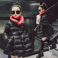 2017 meninas casaco de inverno crianças roupas crianças roupas grossas de algodão jaqueta parka casacos para as meninas roupas 2 cores idade 2-14Y