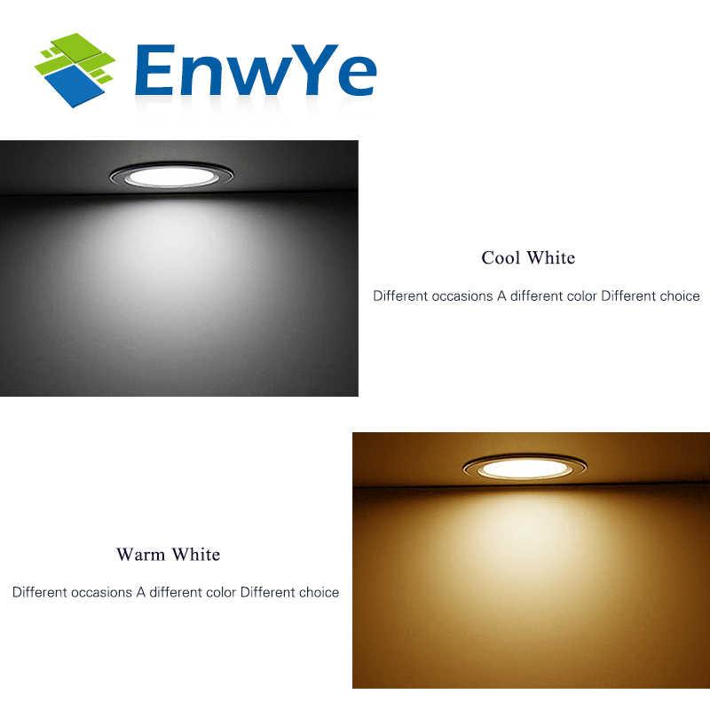 EnwYe LED Downlight Ceiling silvery IC LED driver 9W 12W 15W Warm white/cold white led light AC 110V 220V