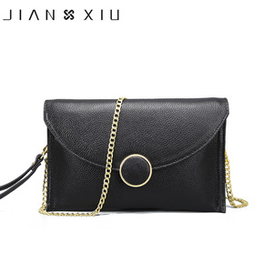 Marca JIANXIU, bandolera de piel auténtica para mujer, bolsos de hombro tipo bandolera con cadena, bolso de mano para mujer, bolso de mano 2020, bolsos de mano para mujer