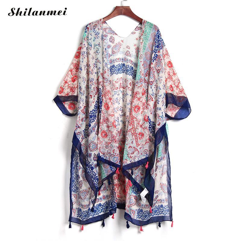 Aliexpress.com : Buy Boho Summer Beach Kimono Long