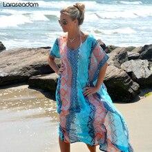 Beach Dress Kaftan Pareo Sarongs Sexy Cover-Up Chiffon Bikini Swimwear Tunic Swimsuit Bathing Suit Cover Ups Robe De Plage#Z021