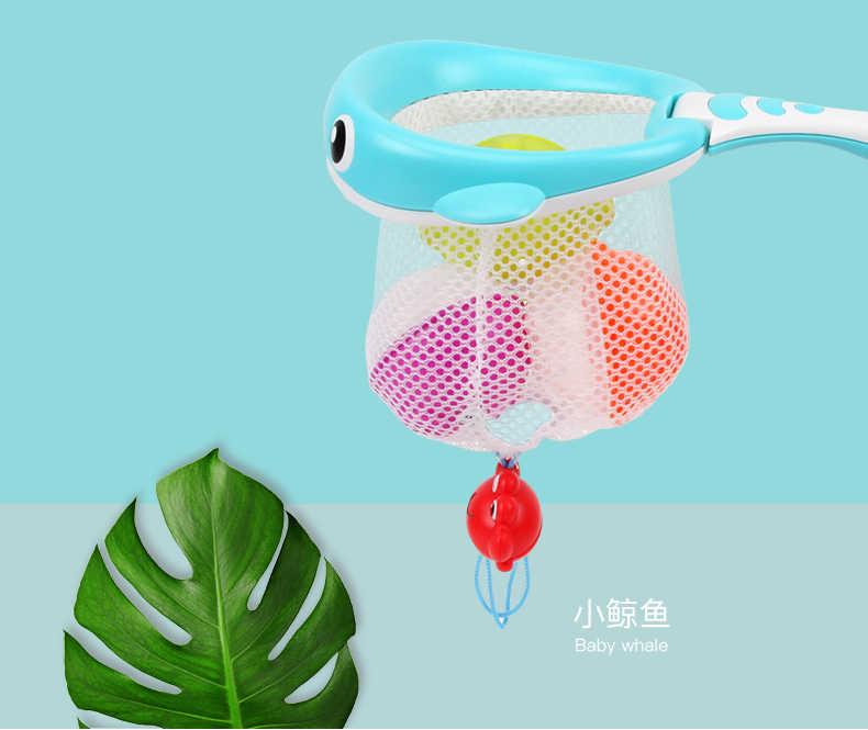 Детские купальные игрушки акула или КИТ рыболовная сеть и красочные мягкие плавающие резиновые звуковые ванны для раннего образования детские подарки