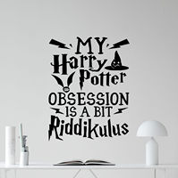 Carton Harry Potter Wall Decal Movie Quote Poster Vinyl Sticker Kids Decor Mural Decals hw102 free shipping