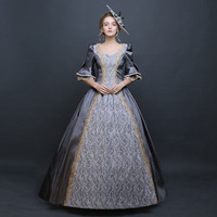 Customized 18th Century Royal Rococo Baroque Masquerade Party Long Dress Square Collar Victorian Period Ball Gowns Drop Shipping