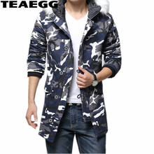 TEAEGG Casual Winter Jacket Men Parkas Mujer Thick Camouflage Green Cotton 2017 Mens Winter Jackets Outwear Male Clothing AL498
