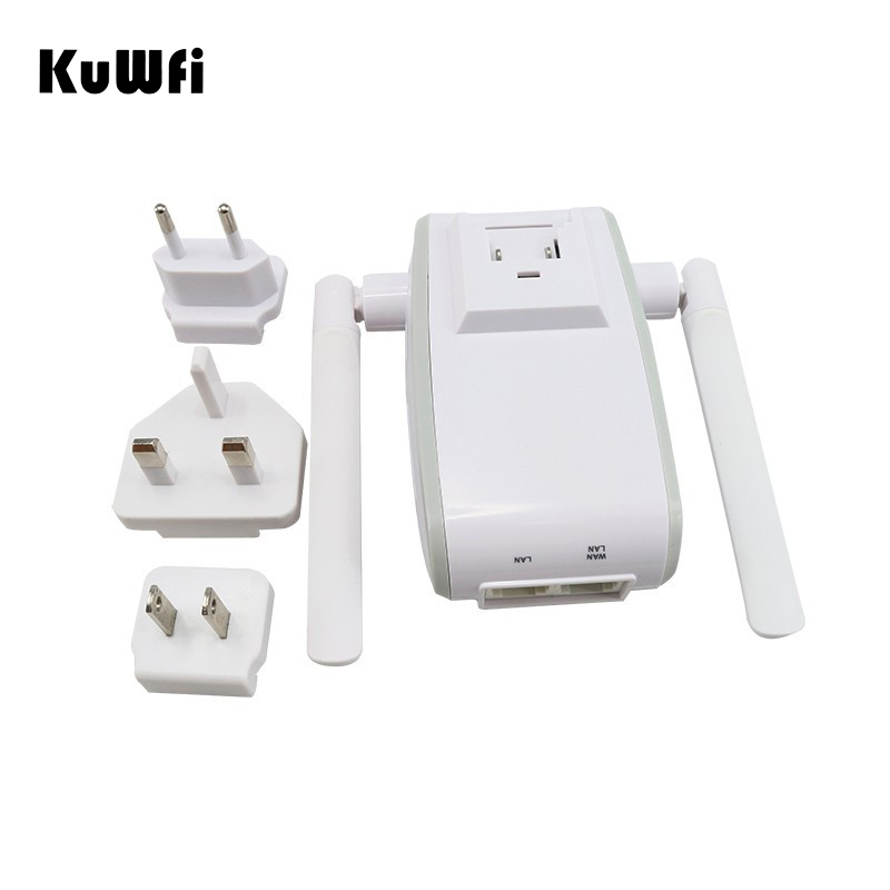 Image 3 - 300Mbps Mini Wireless Wifi Signal Booster Repeater with 2 RJ45 Port Dual Antenna With AP Repeater Router Client Bridge Modes-in Wireless Routers from Computer & Office