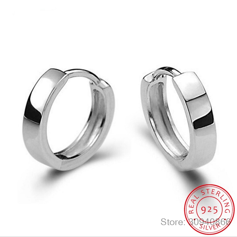 Cute 925 Sterling Silver Round AAA CZ Circles Small Loop Huggies Hoop Earrings For Women Jewelry Kids Baby Children Girls Aros