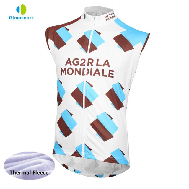 f2f3a4734 2018 winter fleece team AG2R cycling vest super Breathable warmer jerseys  windproof vest quick-dry clothing Bicycle maillot