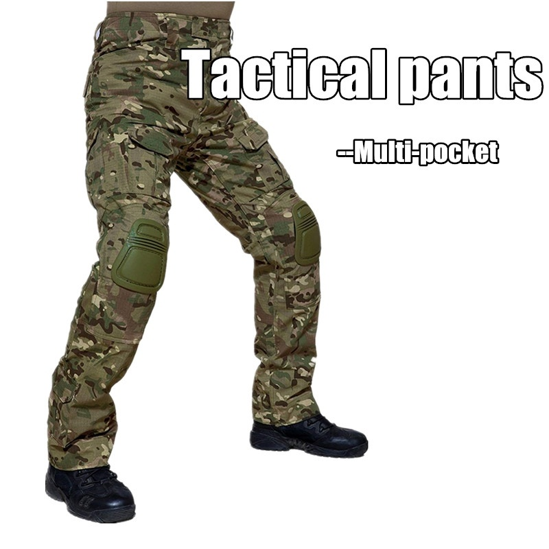 Camouflage Tactical Military Clothing Paintball Army Cargo Pants Combat Trousers Multicam Militar Tactical Pants with Knee PadsCamouflage Tactical Military Clothing Paintball Army Cargo Pants Combat Trousers Multicam Militar Tactical Pants with Knee Pads