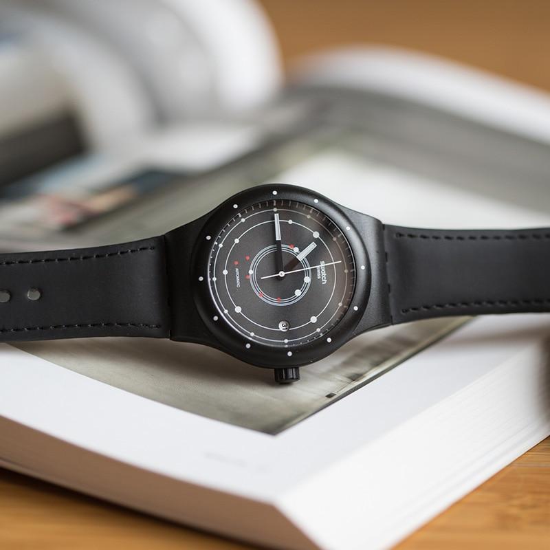 Swatch Watch Planetary mechanical watch device 51 black SUTB400 цена и фото