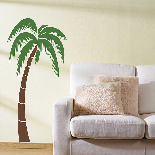 Attractive Tropical Palm Tree Wall Sticker Palm Tree Wall Decals Large Tree Sticker  For Living Room Bedroom