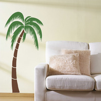 Tropical Palm Tree Wall Sticker Palm Tree Wall Decals Large Tree Sticker For Living Room Bedroom Removable Vinyl Home Decor 694T