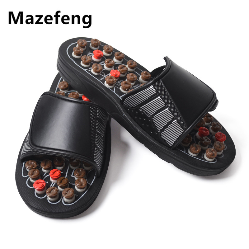 Massage Slipper Shoes Men Summer Slipper Health Rotating Accupressure Foot Slippers For Men Women Acupoint Healthcare Slipper