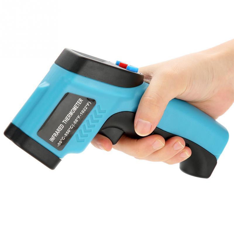 Image 5 - GM550E Бесконтактный лазерный термометр пистолет ЖК дисплей ИК  инфракрасный цифровой C/F выбор температуры поверхности пирометр Imager  синийПриборы для измерения температуры   -