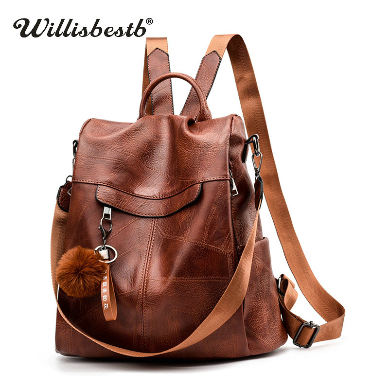 AINiubia Men Luxury Vintage Canvas Backpacks Oil Wax Canvas Leather Travel Backpack Large Waterproof Retro Daypacks
