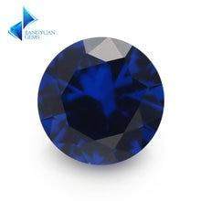 Размер 3 мм ~ 12 круглая блестящая огранка 113 # синие драгоценные