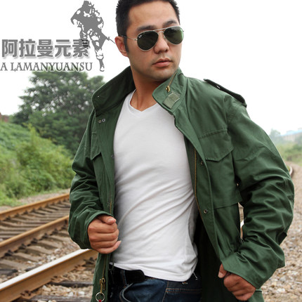 M65 armée vert camouflage veste coupe-vent thermique, doublure amovible, haute qualité M65 col poussière manteau deux colorAmerican aéroporté
