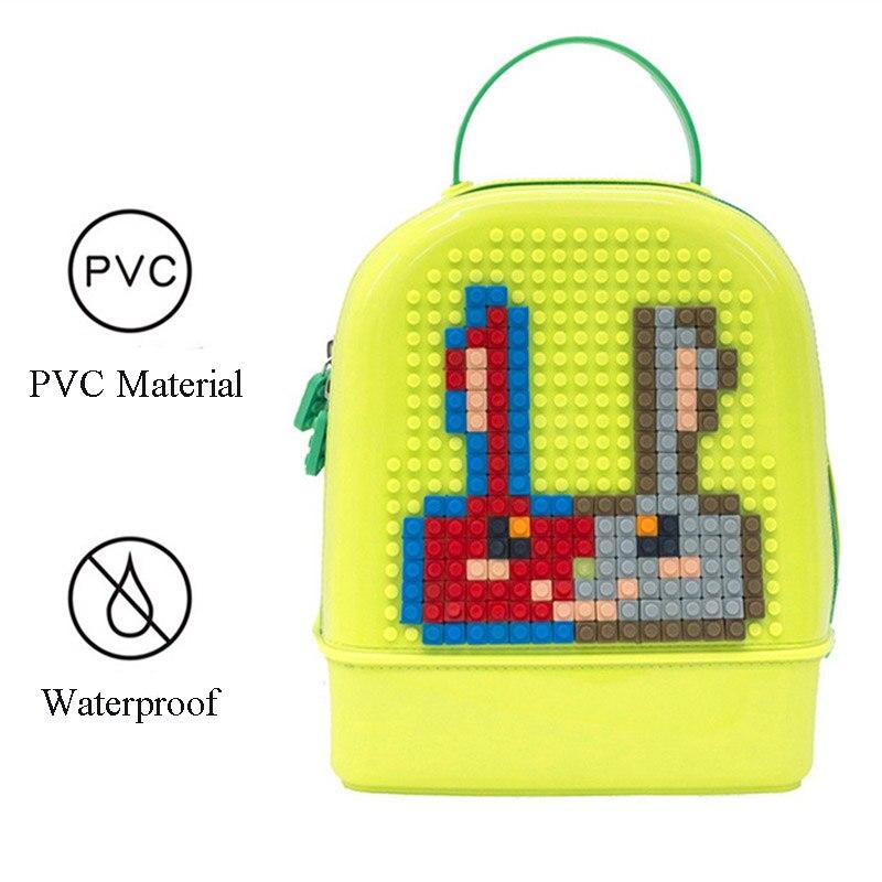 2019 bricolage puzzle assemblage jouet éducatif illumination assemblée enfants cartable sac à dos nouveauté Parent-enfant Puzzle jouet