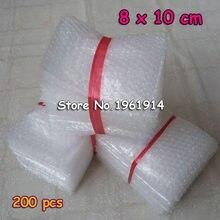 200 Uds 8*10cm 10*15cm 15*20cm de amortiguación de bolsas de Burbuja envoltura protectora Bolsa Burbuja de embalaje inflar de embalaje de espuma