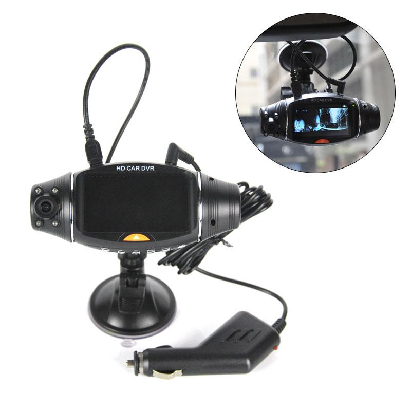 2.7in Screen Car DVR Camera Recorder Dual Lens IR Night Vision Front Camera Car Dash Camera Camcorder Built-in GPS G-Sensor