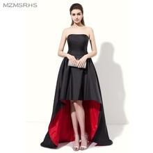 גבוה סטרפלס שחור vestido