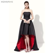 Satin Elegante Back Abendkleid