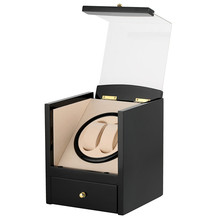 Automatic Watch Winder Drawer Type Storage Box UK/US/AU/EU Plug Motor Shaker Holder Mechanical Self Wind Watches Winders Box luxury automatic watch winding box single holder silent motor storage box winder case for mechanical self wind clocks with plug