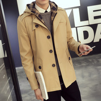 Blue Coat Men Windbreakers Sapphire Wool Mainly Long Plus Size Raincoat Male Man White Trench Casual