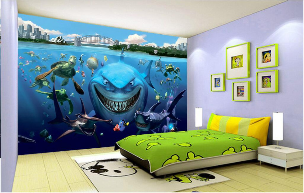 Custom 3d photo wallpaper 3d floor painting wallpaper for Aquarium decoratif mural