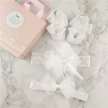 Стиль Модные ободки с бантом носки комплект набор для младенцев подарок