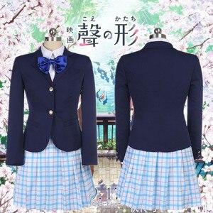 Image 3 - Костюм для косплея Shouko Nishimiya Shoko из японского аниме «тихий голос», школьная форма, костюм, одежда, парик