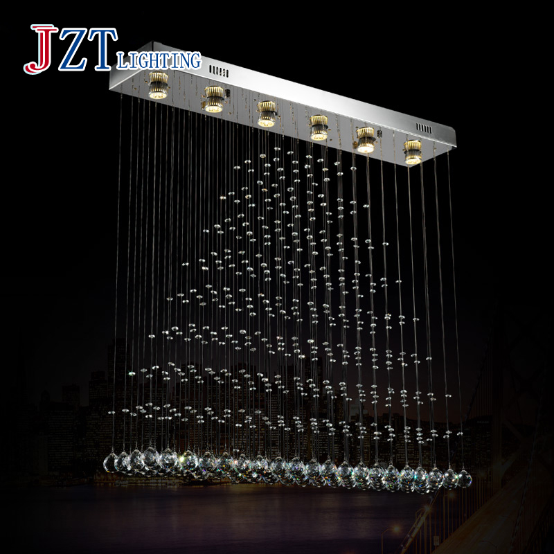 Z Best price Modern Crystal Chandeliers Hanging Wire Crystal Lamps LED Wave Crystal Light Bar Restaurant Living Room Lights Lamp m best price new modern crystal hanging lamps creative crystal pendant lamp luxury bedroom living room led ceiiling light