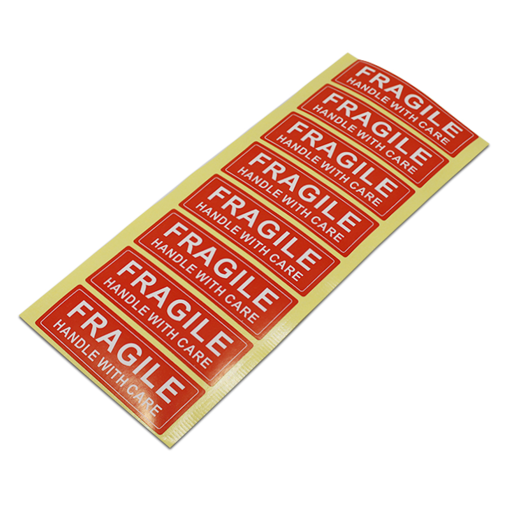 2.5*7.5cm FRAGILE Sticker Self Adhesive Shipping Label For Breakable Goods Pack Warning Hand With Care Package Caution Stickers acqua fragile acqua fragile mass media stars 180 gr