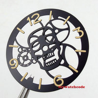 38.9mm À La Mode parnis noir sandwich dial fit ETA 6497 mouvement 35