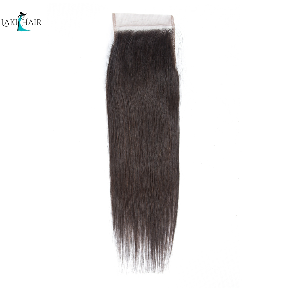 Lace Closure Brazilian Straight Human Hair Closure 4x4 Closure 100% Human Remy Hair 10-20inch Natural Color LaKihair