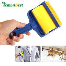 LemonBest Reusable Roller Brush Sticky Cleaner Clothes Carpet Hair Lint Fur Pet Hair Remover Brush Cleaning Wool Fingers Brush