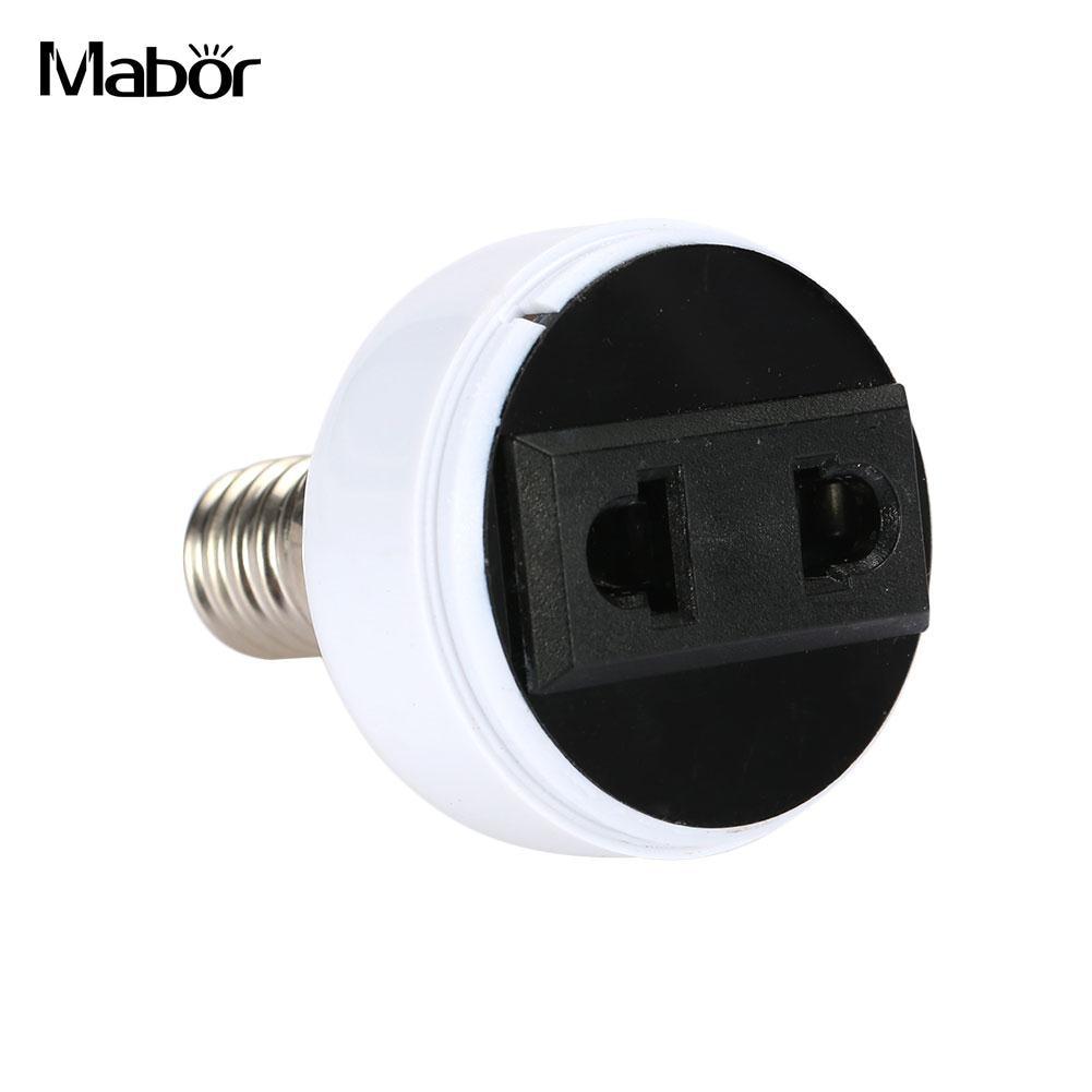 Bulb Holder Household Supply E14 Lamp Adapter Screw Bulb Converter Universal Lamp Base White Power Socket Lighting Parts Home