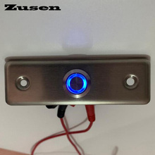 Zusen NEW! 16mm strength Door bell push button switch with ring blue LED light door light switch
