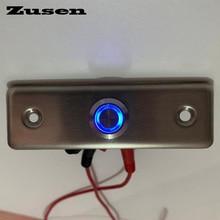 Zusen NUOVO! 16 millimetri resistenza Porta campana interruttore di pulsante con anello blu HA CONDOTTO LA luce interruttore della luce porta