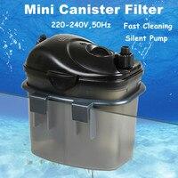 Silent Aquarium External Filter 3w 200L/H Fish Tank Filter Canister With Filter Media Suit For Aquarium Tank 50cm
