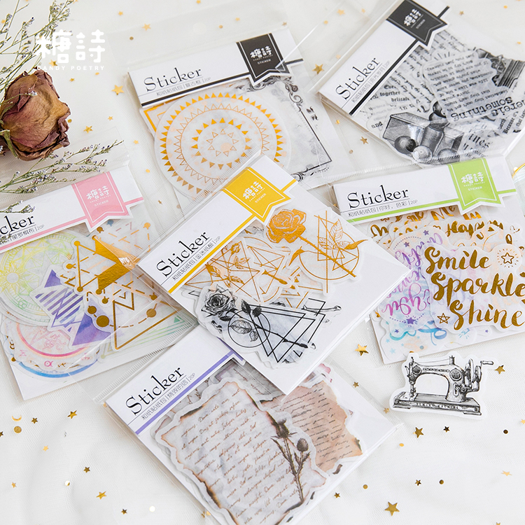 20pc/lot Star-studded Series Theme Paper Sticker Gift DIY Kawaii Scrapbooking Sticky Stationery Bullet Journal Stickers