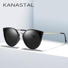 KANASTAL 2019 BRAND DESIGN Cat Eye Sunglasses Women Vintage Ladies Polarized Sun glasses Female Shades Metal Frame Eyewear Gafas