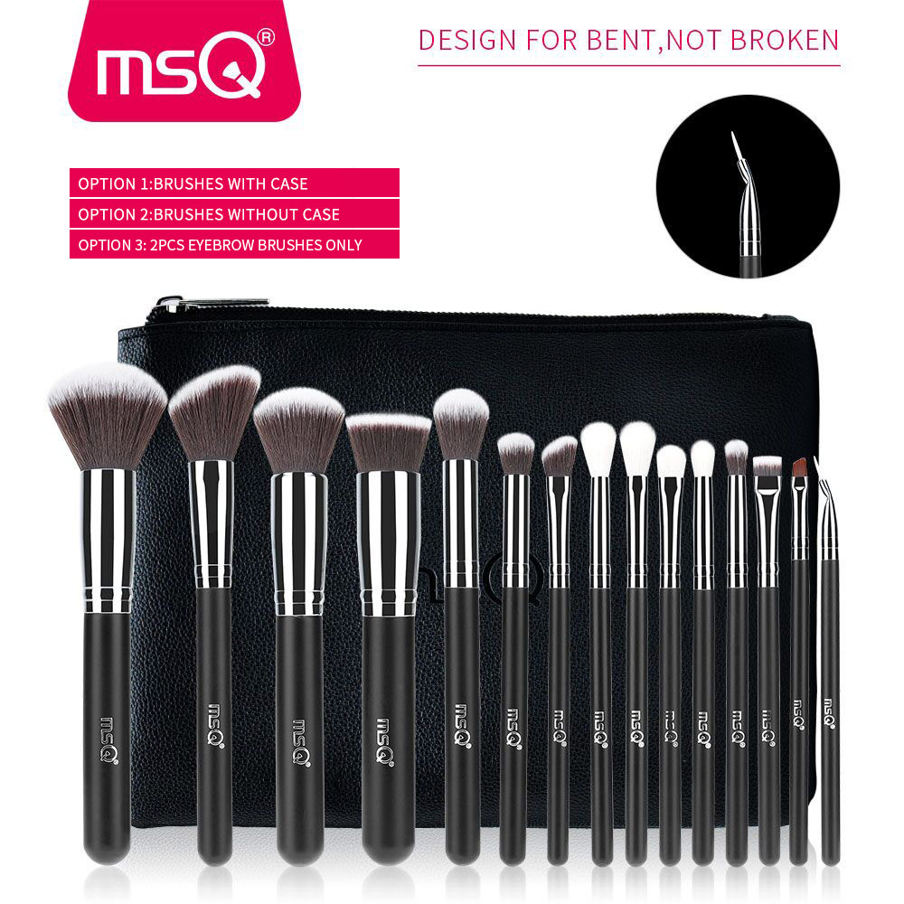 MSQ Pro 15st make-up kwasten set poeder foundation oogschaduw make-up - Make-up - Foto 2