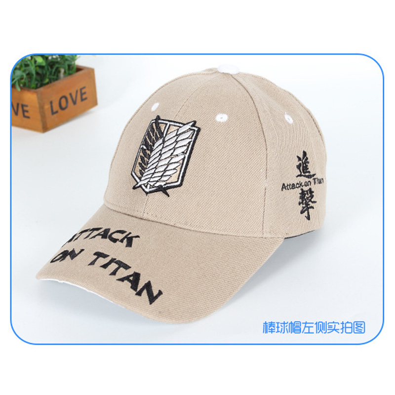 Creative Design Anime Attack On Titan Sun Cap Adjustable Summer Casual Hat for Daily With Scouting Corps Wings of Liberty Sign