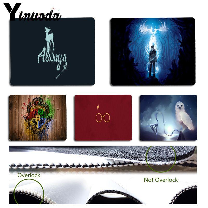 Yinuoda New Designs Harry Potter Deer Owl Keyboard Gaming MousePads Size for 18x22cm 25x29cm Small Mousepad maiyaca marvel comics logo customized laptop gaming mouse pad size for 25x29cm gaming mousepads