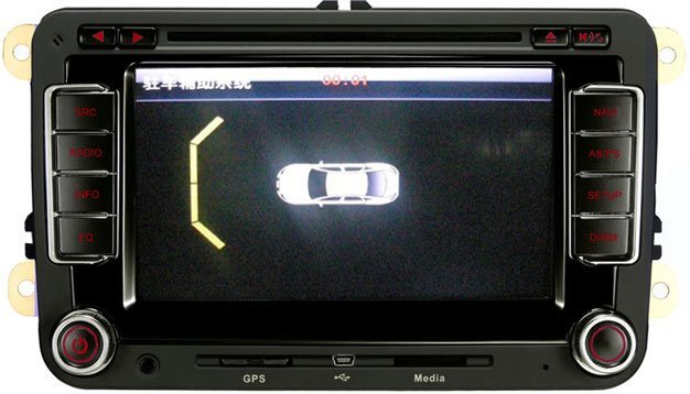 car dvd player with gps navigation radio system for vw passat b6 and passat cc