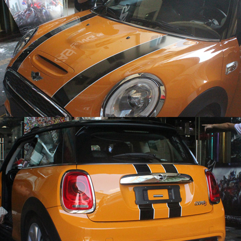 1 Set Hood+Trunk Engine+Rear Line Car Stickers And Decals Car Styling For Mini Cooper F55 2015 2016 F56 2014-2016 Accessories